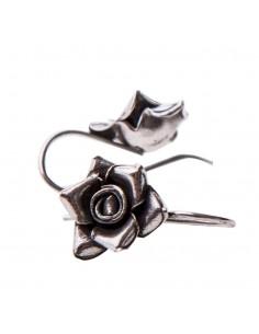 "Pendientes ""Rosa"" de plata"