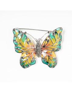 Colgante y broche  mariposa...