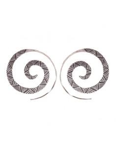 Pendiente espiral de plata...