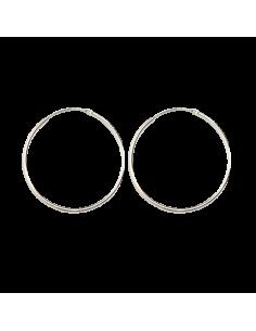 Aros lisos de plata .1,5mm....